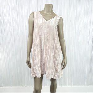 LOFT Pink Crushed Velvet Swing Dress 4